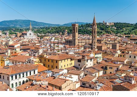 Florence City Skyline , Italy