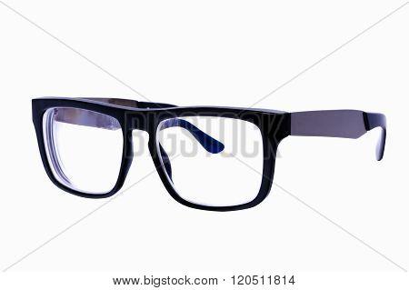 Close up of Eyeglasses frame isolated over white background