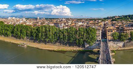 Rome Panorama City Skyline , Italy