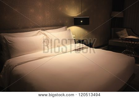 Bed With Soft Light