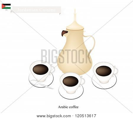 Traditional Arabic Coffee, Popular Dink In Jordan