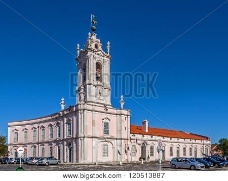 Queluz, Portugal - September 16, 2015: Dona Maria I Historical Hotel in Queluz, Lisbon (Portugal). This luxury hotel is built in the former Royal Guard Headquarters.