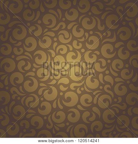 Decorative brown vintage retro ornamental design
