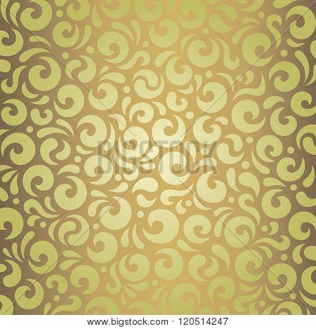 Decorative green & brown vintage design