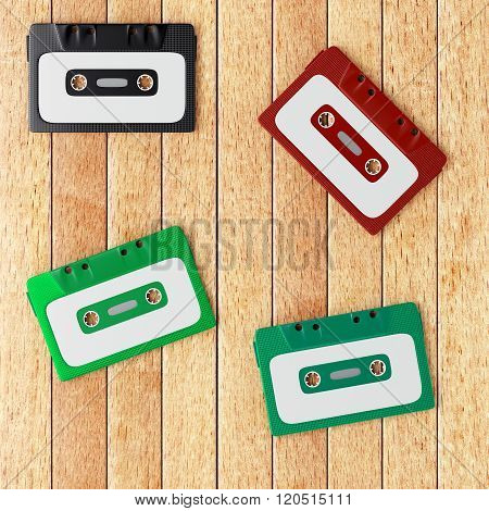 Four Old Audio Cassette Tapes
