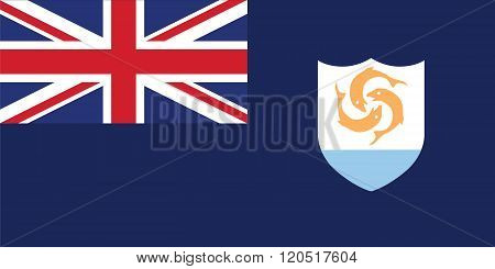 Standard Proportions For Anguilla Official Flag