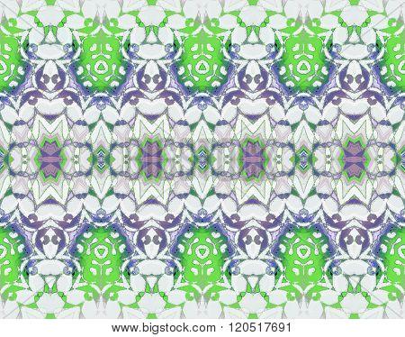 Seamless ornaments green purple gray