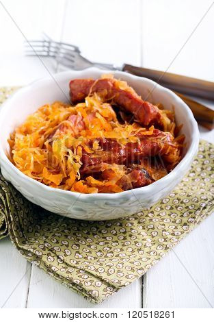 Braised Cabbage With Ribs