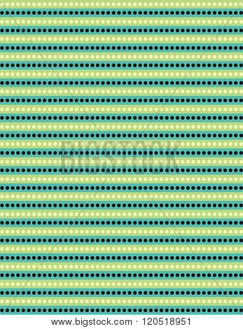 Yellow and blue dot pattern over green background