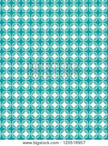 Green vintage star pattern over white background