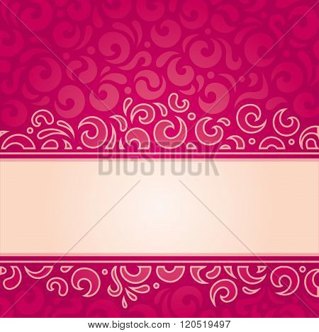 Retro red vector pattern design template