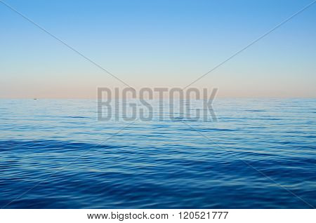 Sea Waves On A Background Of Blue Sky
