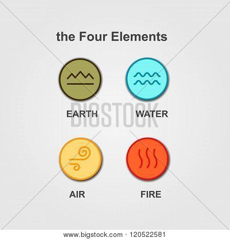 Set of 4 vector elements