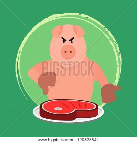 Angry Pig And No Pork