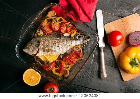 Uncooked Dorado Or Sea Bass