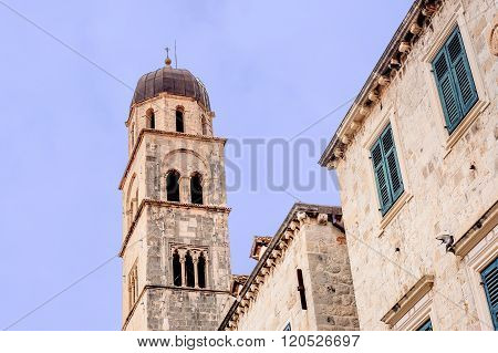 Clock Tower In Dubrovnik Old Town, Croatia