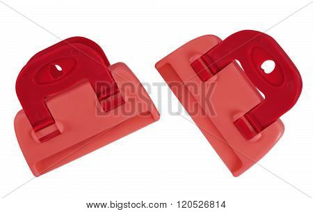 Clamps Isolated - Red
