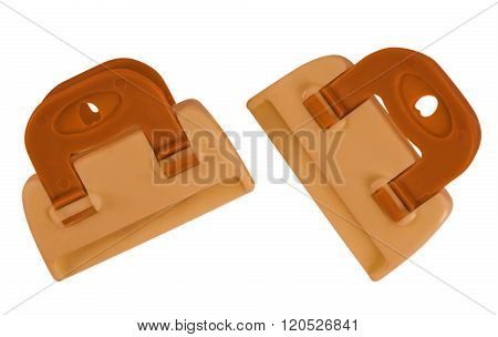 Clamps Isolated - Orange
