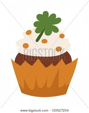 Organic cake vector illustration. Organic cake isolated on background. Organic cake cartoon style. Vector Organic cake. Organic cake modern style