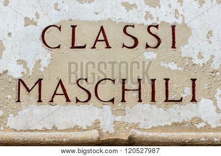 Sign Indicating The Masculine Classes