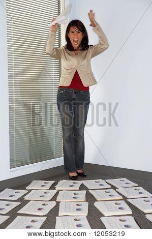 Geschäftsfrau, die ihre Hände