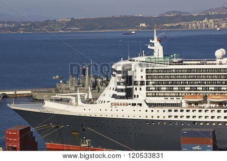 Ocean Liner at Valparaiso