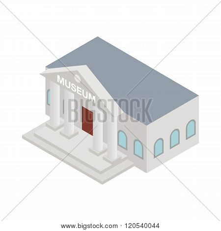 Museum icon, isometric 3d style