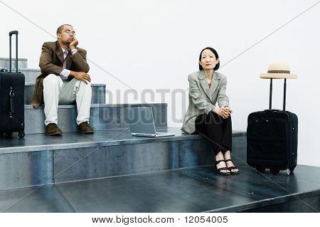 Businesspeople waiting
