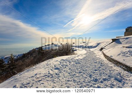 Winter Panorama From Italian Alps