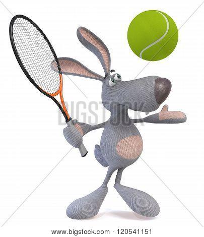 3D Hare Tennis Player