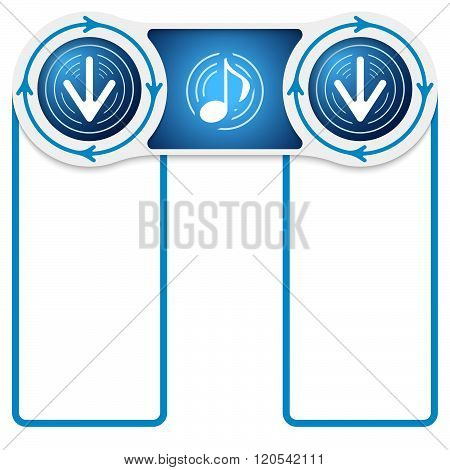 Music Symbol And Arrows