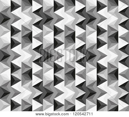 Seamless Abstract Pattern Made Of Greyscale Triangles