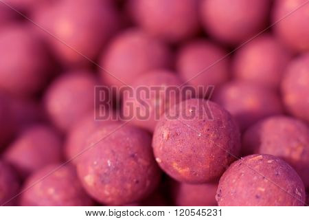 Boilies, fishing baits, close up, Selective focus and shallow Depth of field