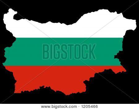 Map Of Bulgaria And Bulgarian Flag