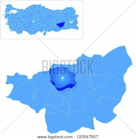 Map Of Diyarbakir - Egil Is Pulled Out