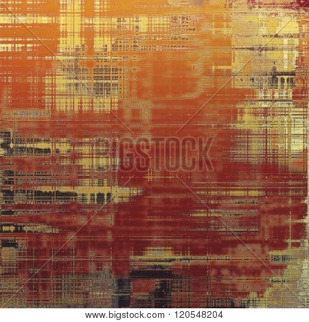 Grunge, vintage old background. With different color patterns: yellow (beige); brown; red (orange); gray; pink