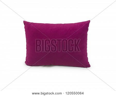 Pillow isolated on the white background, red pillow