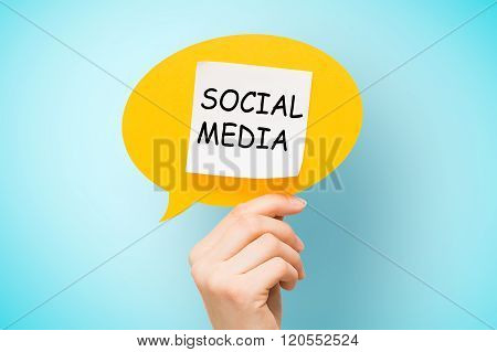 Adhesive Note On Speech Bubble With Text Concepts.