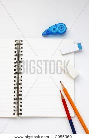 Notebook and writing utensils