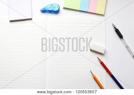 Notebook and writing utensils