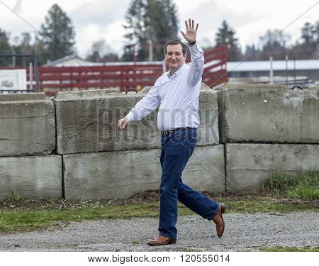 Ted Cruz Walking And Waving.