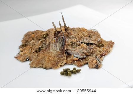Anchovies Baked, Ready Meal - Italian Recipe
