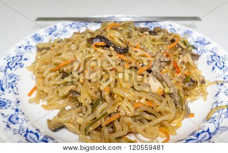 Japchae Korean Dish