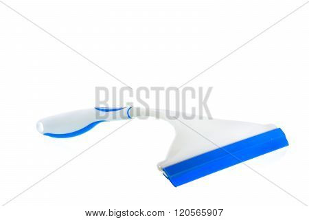 A Squeegee clean window on white background