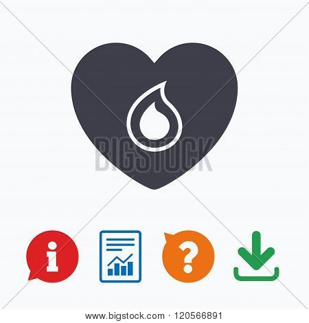 Blood donation sign icon. Medical donation.