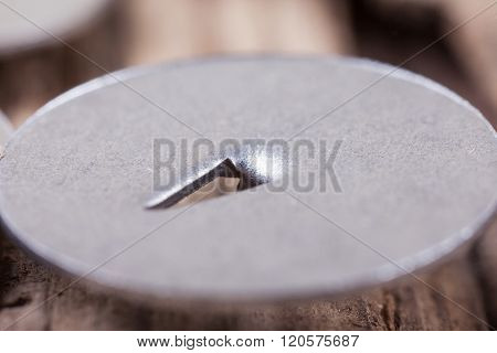 extra macro image hat metal pushpin