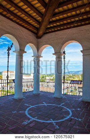 Santa Barbara, U.S.A. - June 1, 2011: Panoramic view from the Court House look out tower.