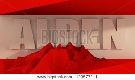 Austria flag design concept