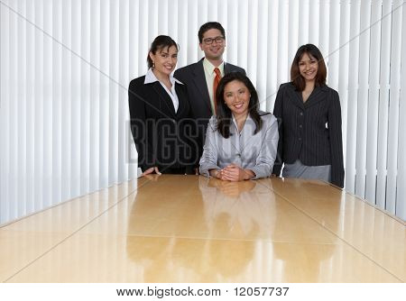 Portrait of four business professionals
