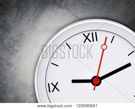 Clock on grey